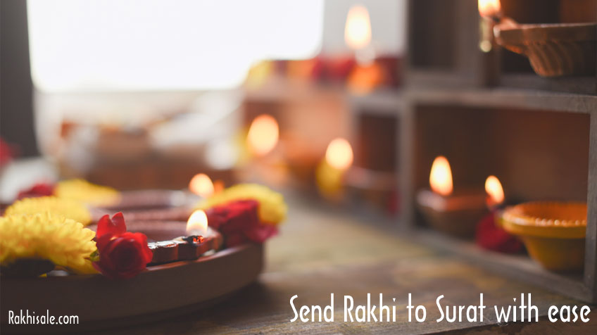 Rakhi Gifts to Surat with ease