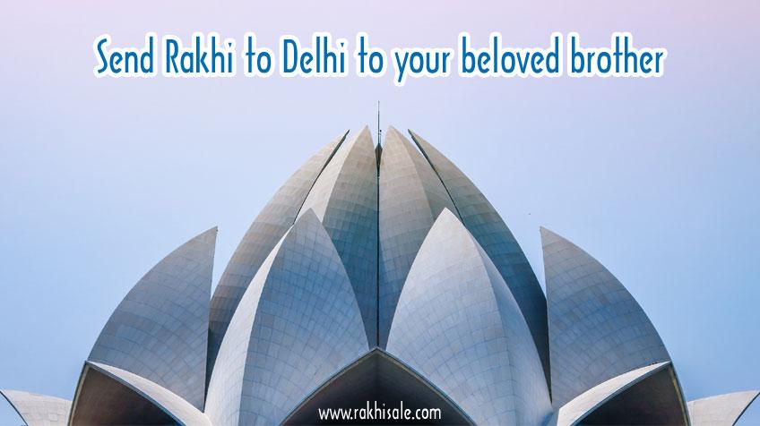 Rakhi to Delhi to your beloved brother