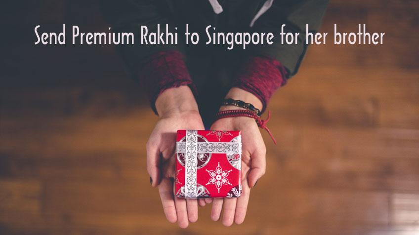 Premium rakhi collections rakhi to Singapore