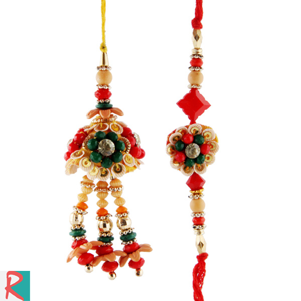 Lovely art design rakhi pair