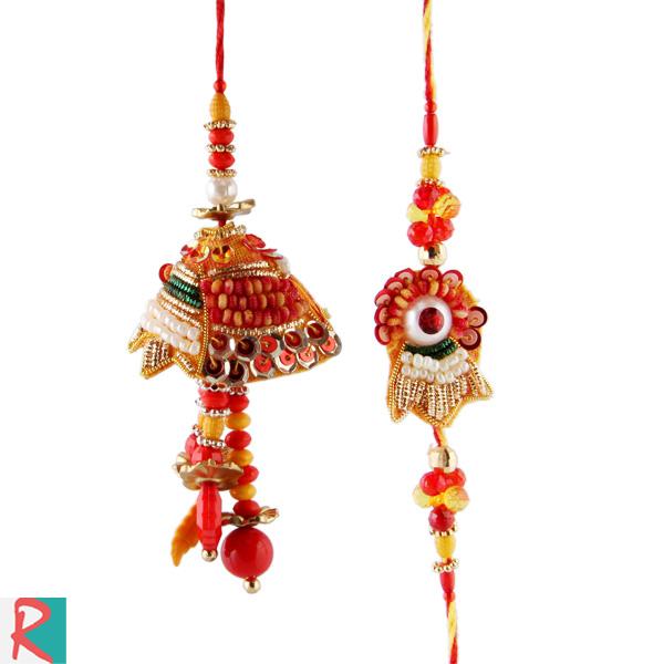 Wonderful art rakhi pair