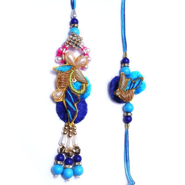 Mindblowing blue rakhi pair