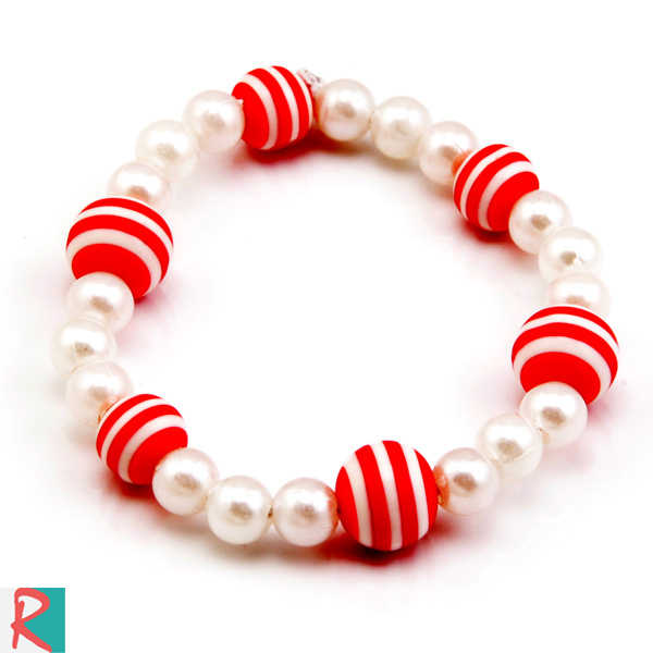 Red rainbow bracelet band
