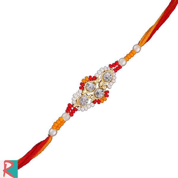 Sparkling diamond rakhi