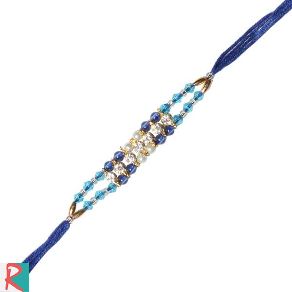 Blue magic diamond rakhi