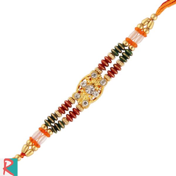 Royal graced pearl jewel rakhi