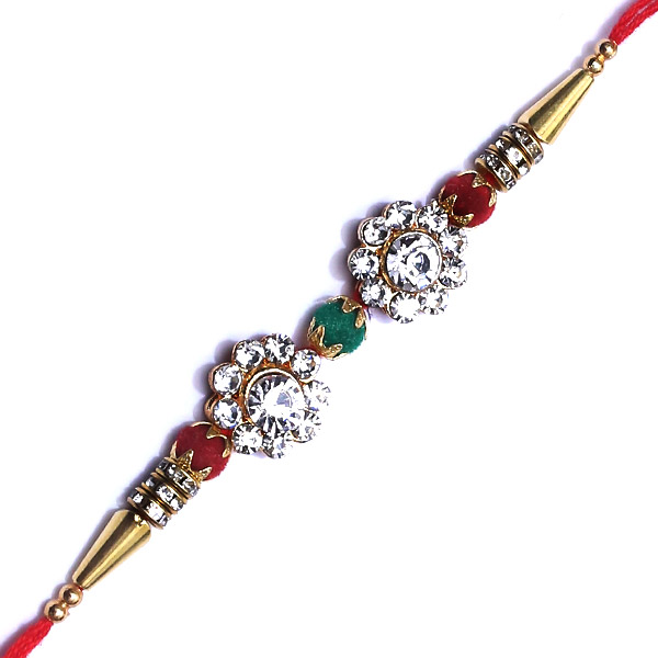 Superb diamond rakhi