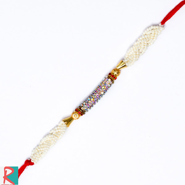 Sun Shade Diamond Designer Rakhi