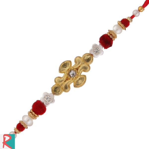 Golden rangoli design rakhi