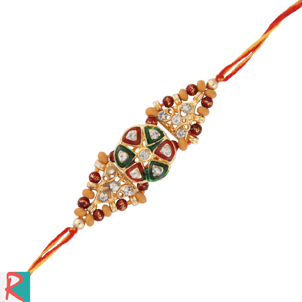 Rare kundan design rakhi
