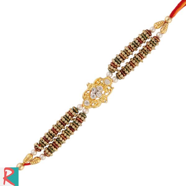 Terrific stone jewel rakhi