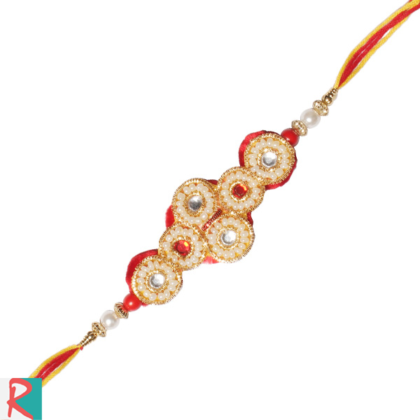 Delight pearl rakhi for brother