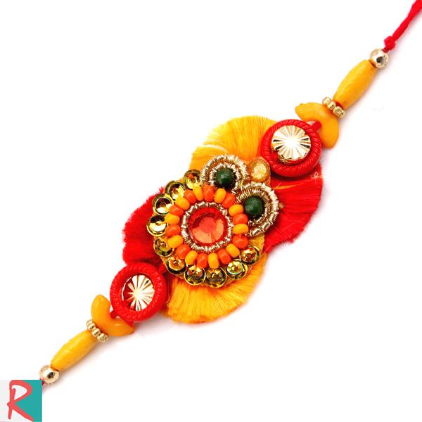 Garish designer rakhi