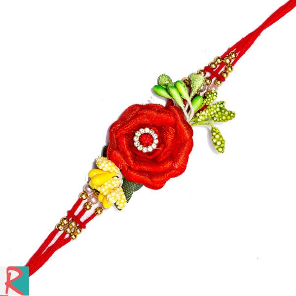 Garden Rose Rakhi For Brother