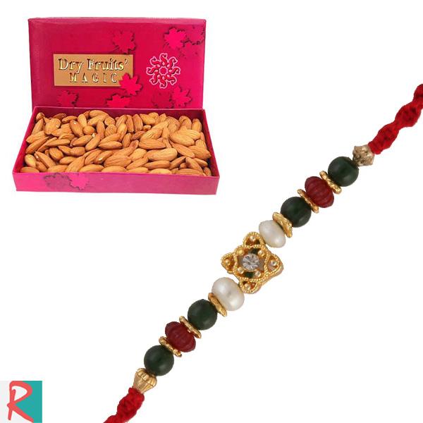 Almonds box with onkar rakhi