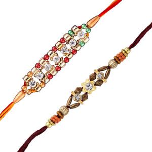 2 diamond rakhi