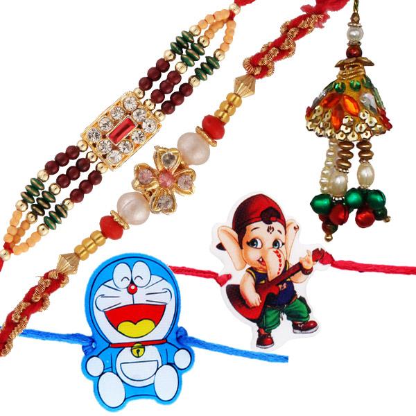 Five rakhi set 4