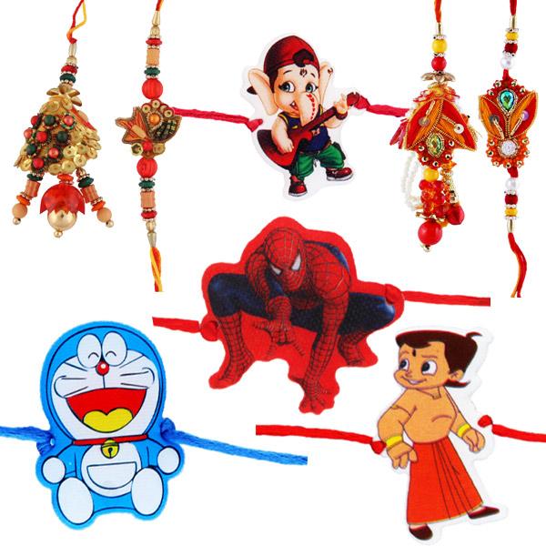 Eight rakhi set 1