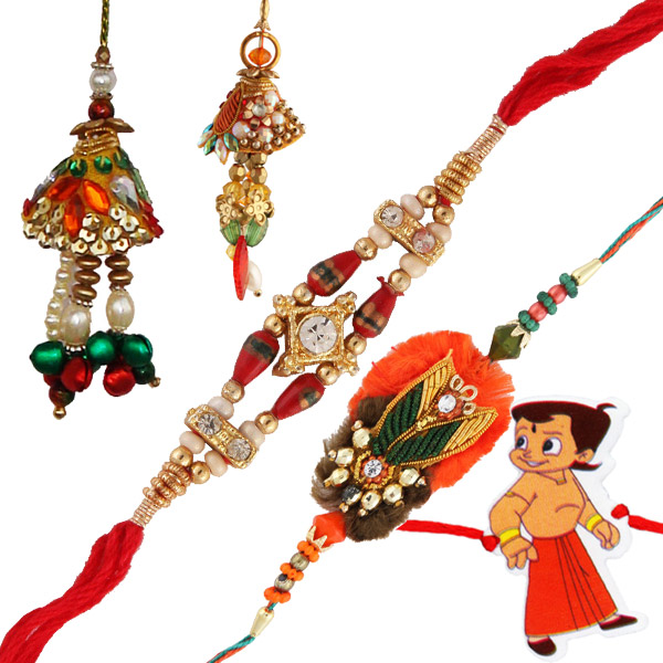 Five rakhi set 7