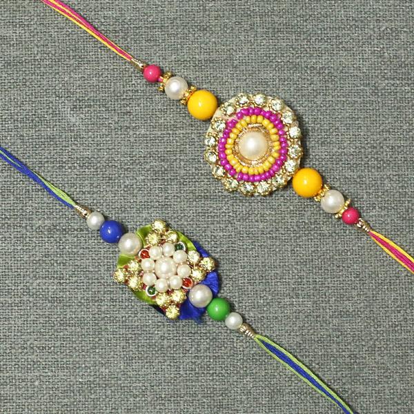 Designer Diamond Pearl Rakhi
