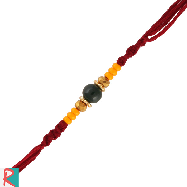 Dazzling beads thread rakhi
