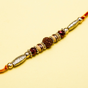 Gold stone beads natural rudraksh