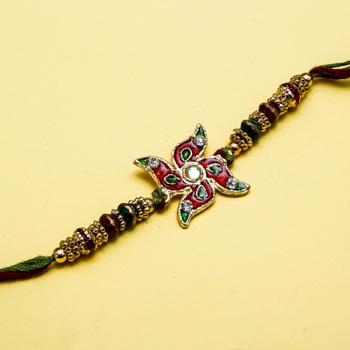 Swastik colourful magic rakhi