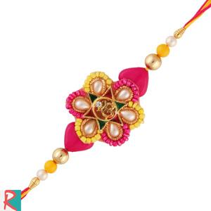 Om heart pearls rakhi