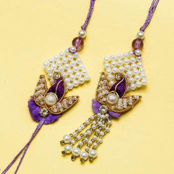 Purple pearl zari pair