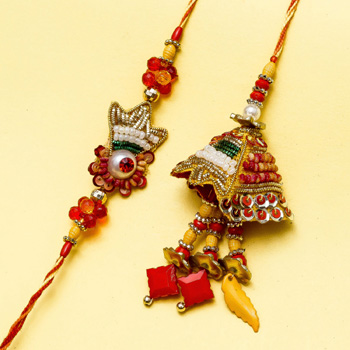 Wonderful art rakhi pair