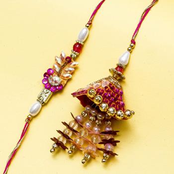 Dazzling elegant  rakhi pair