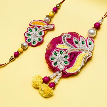 Pink Love Bhaiya Bhabhi Rakhi