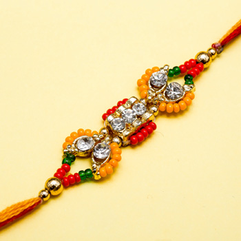 Glorious diamond rakhi