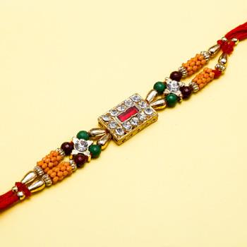 The rich kundan diamond rakhi
