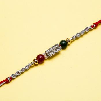 Luxurious diamond rakhi