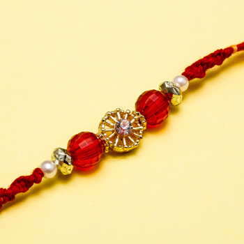 Fabulous golden diamond rakhi