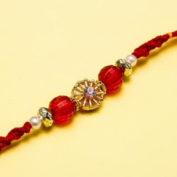 Fabulous golden diamond rakhi