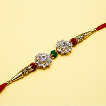 Superb diamond rakhi