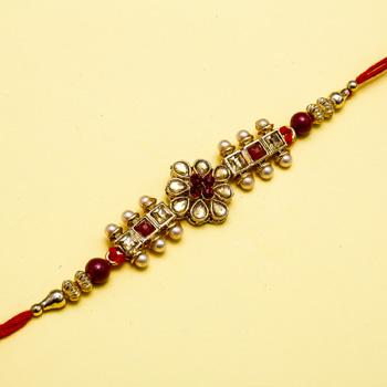 Royale rich stone jewel rakhi