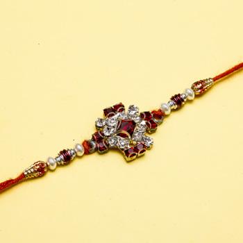 Crystal beads designer rakhi