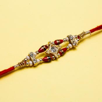 Colorful jewel rakhi