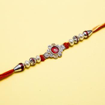Fantastic red sun flower rakhi