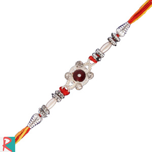 Colorful pearl stone rakhi