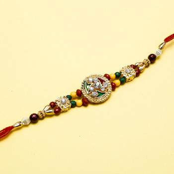 Unique jewel kundan  rakhi