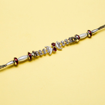 Divine diamond rakhi for brother