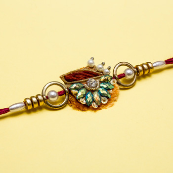 Incredible stone art rakhi for brother