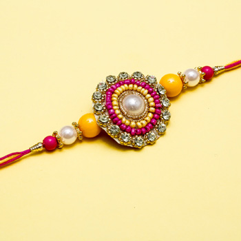 Shiny lucky rakhi for brother