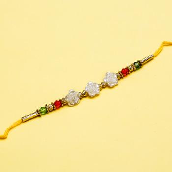 Delightful flower rakhi