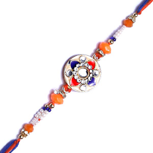 Colourful stone rakhi for brother