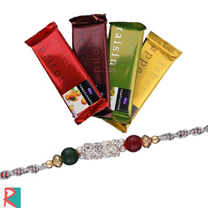 Rakhi with 4 cadbury temptations
